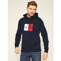 TOMMY HILFIGER Bluza Signature Artwork MW0MW14202 Granatowy Regular Fit