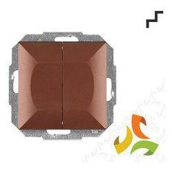 Wyłącznik, włącznik schodowy podwójny WP-2 5P, miedź PERŁA metalik