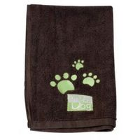 Ręcznik do kąpieli psów 40cm x 60cm mikrofibra brązowy