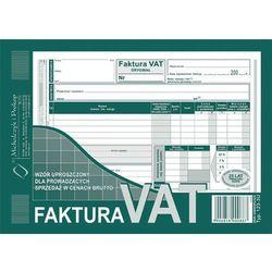 Faktura VAT-wzór uproszczony dla prowadzących sprzedaż w cenach brutto A5