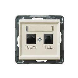 Gniazdo komputerowo - telefoniczne, MMC Ospel Sonata - Ecru - GPKT-R/K/m/27