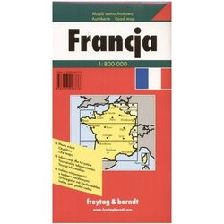 Francja. Mapa samochodowa