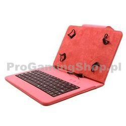 """FlexGrip Sprawa z klawiaturą dla tabletu o przekątnej 7""""do 7,85"""", Czerwony"""