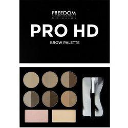 FREEDOM PRO HD BROW PALETTE MEDIUM DARK - Zestaw do brwi Medium Dark