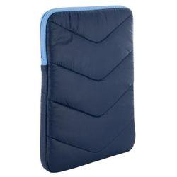 4World Etui z pluszem wertykalne do tabletu 10.1'' granatowo-błękitne