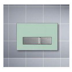 Przycisk Geberit Sigma 50 uruchamiający przedni do spłuczek podtynkowych UP320, szkło zielone satynowe 115.788.SE.5