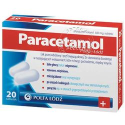 Paracetamol tabl.500mg x 20 /Polfa Lodz
