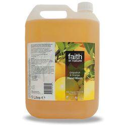 Organiczne płyn do mycia rąk z grejpfrutem i pomarańczą 5 litrów - Faith In Nature