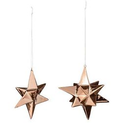2 Dekoracje z porcelany Mini Stars