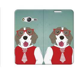 Flex Book Fantastic - Samsung Galaxy Trend 2 Lite - pokrowiec na telefon - hipster dog