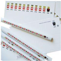 Zestaw 4 ołówków i 4 kartek mini drużyna