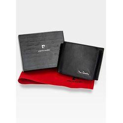 16a28f5f30d80 Pierre Cardin Portfel Męski Skórzany Poziomy Czarny YS520.1 8806 RFID -  Czarny