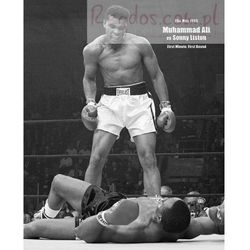 Muhammad Ali kontra Liston Nokaut - plakat