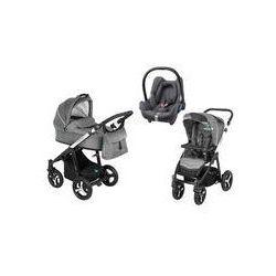 Wózek wielofunkcyjny 3w1 Lupo Husky Baby Design + Cabrio Fix GRATIS (szary)