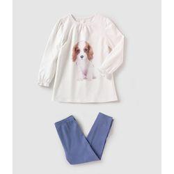 Piżama z dżerseju z nadrukiem szczeniaka 2-12 lat