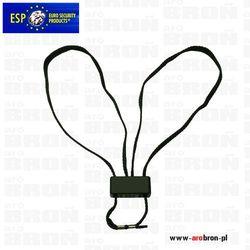 Kajdanki sznurkowe jednorazowe ESP HT-01-B czarne - kompaktowe, lekkie, szybkie w zakładaniu, wytrzymałość 140 kg.