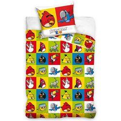 Tip Trade Dziecięca bawełniana pościel Angry Birds szachownica, 140 x 200 cm, 70 x 80 cm