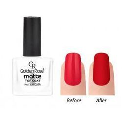 Golden Rose Matte Top Coat Matowy utwardzacz lakieru do paznokci 10,5ml