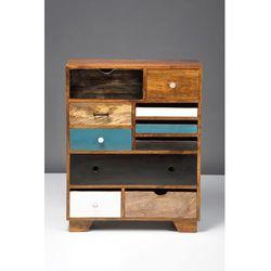 Kare design :: Komoda Babalou ( 10 szuflad ) - zielony, brązowy, niebieski, biały, czarny ||( 10 szuflad )