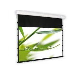 DELUXX ekran elektryczny z napinaczami Cinema Elegance 416 x 330 cm bialy mat Varico Flat