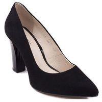 3322-008 Marco Shoes czółenka welurowe czarne