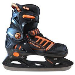 Łyżwy hokejowe regulowane AXER SPORT A2959 Ontario (rozmiar 33 - 36)