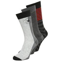 Converse 3 PACK Skarpety light heather grey/medium heather grey/black
