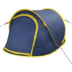 vidaXL Samorozkładający się namiot 2 osobowy niebiesko żółty Darmowa wysyłka i zwroty