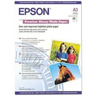 Epson C13S041315 Premium Glossy Photo Paper, DIN A3, 255 g/m2, 20 arkuszy