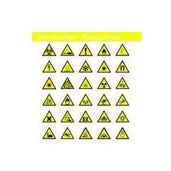 Foto naklejka samoprzylepna 100 x 100 cm - Ostrzeżenie - BHP - Znaki bezpieczeństwa