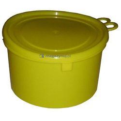 Okrągły pojemnik plastikowy z pokrywą 2l (Kolor: żółty)