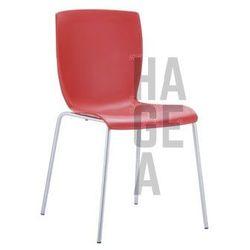 Designerskie krzesło na stołówkę Mio czerwone