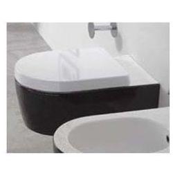 Miska wisząca WC Flaminia Link 56 x 36 x 20 cm, czarna na zewnątrz 5051/WCG czarny