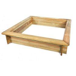 Piaskownica z drewna sosnowego impregnowana 1500 x 1500