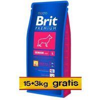 Brit Premium Senior L Large 18kg (15+3kg gratis)