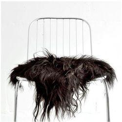 narzuta na krzesło z owczej skóry - czarna