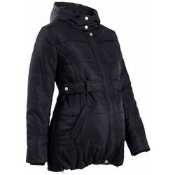 Płaszcz ciążowy pikowany bonprix czarny