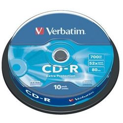 VERBATIM PŁYTY CD-R VERBATIM 700 MB 52X CAKE 10 SZT.43437