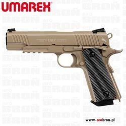 Pistolet wiatrówka Colt M45 CQBP piaskowy 4,5 mm BB CO2- metalowy zamek, system Blow Back