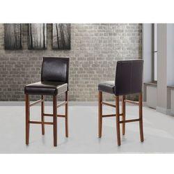 Fotel skórzany brazowy - krzeslo barowe - MADISON