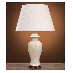 Stojąca LAMPA stołowa IVORY CRACKLE SMALL LUI/IVORY CRA SM+LUI/LS1004 Elstead ceramiczna LAMPKA abażurowa kremowy biały