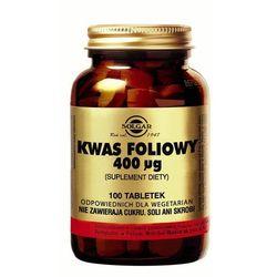 SOLGAR KWAS FOLIOWY HIPOALERGICZNY, 100 tabletek