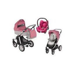 Wózek wielofunkcyjny 3w1 Lupo Dotty Baby Design + Cabrio Fix GRATIS (różowy)