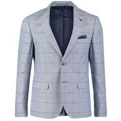 Burton Menswear London WINDOWPANE Marynarka blue