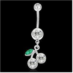 piercing 316L PLJ284BA - Silver/Clear Cherry