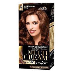 Farba do włosów Joanna Multi Cream Color kasztanowy brąz 38