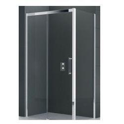 Drzwi Novellini Rose Rosse 2P 151-157 cm przesuwne do ścianki lub wnęki, wersja lewa, profil chrom, szkło przeźroczyste ROSE2P151S-1K