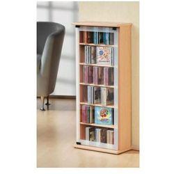 VCM szafka medialna CD/DVD Classic - regał, w 3 wariantach kolorystycznych: orzech