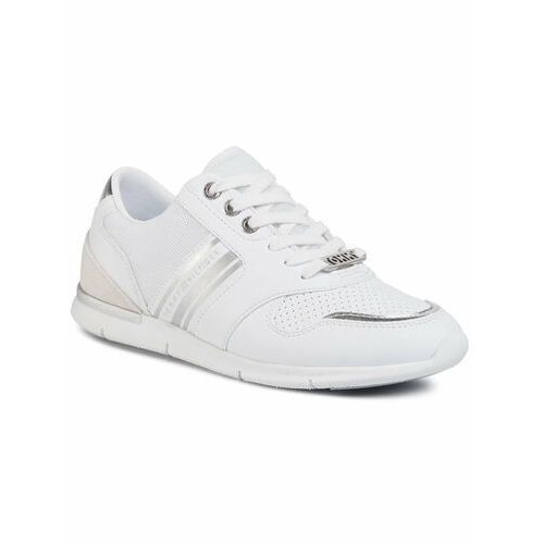 TOMMY HILFIGER Sneakersy Metallic Lightweight Sneakers FW0FW04701 Biały