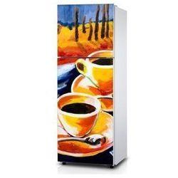 Naklejka na lodówkę - Malowana kawa - Naklejka laminowana